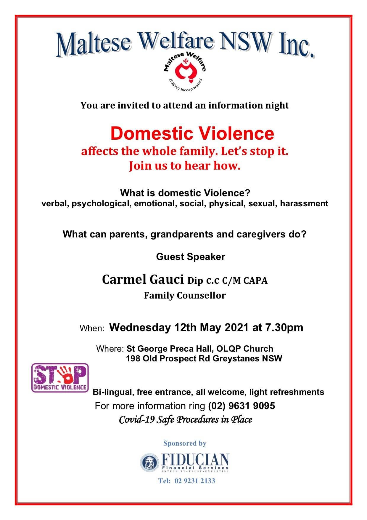 Maltese Welfare Domestic Violence Seminar