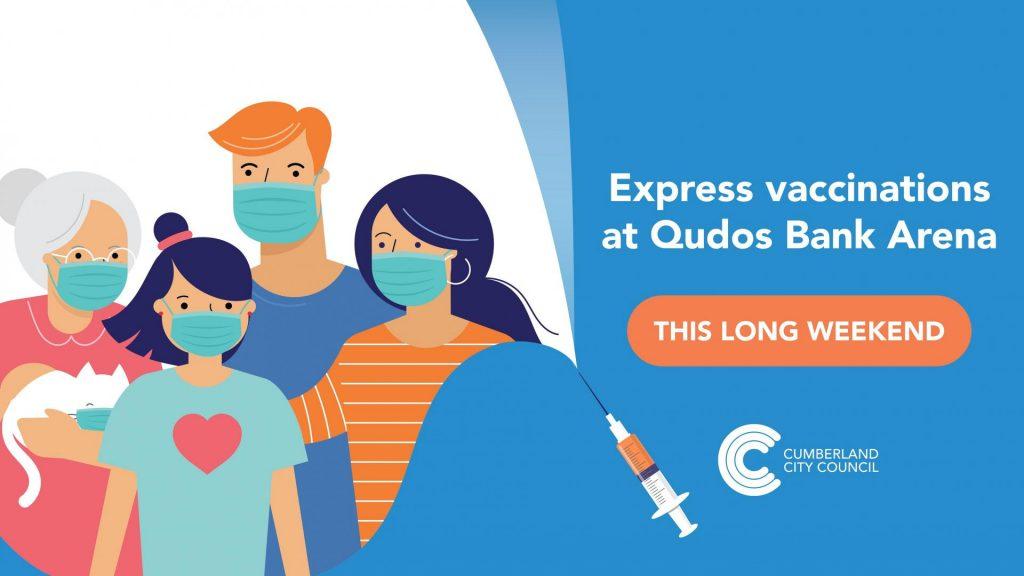 express vaccinations Qudos Bank Arena with Cumberland City Council